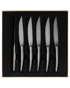 Coffret 6 couteaux de table/steak lame unie