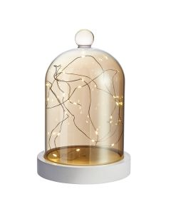 Cloche decorative lumineuse 22x14 cm